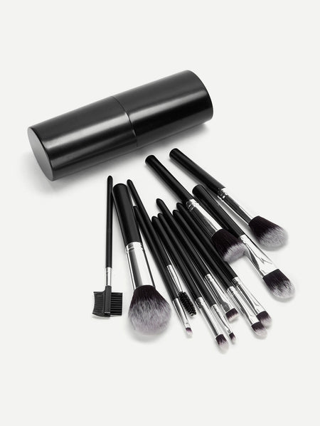 Two Tone Handle Makeup Brush With Case 13pcs