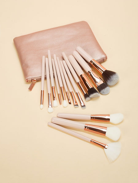 Soft Makeup Brush With Case 16pcs