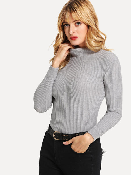 Knit Skinny Solid Sweater