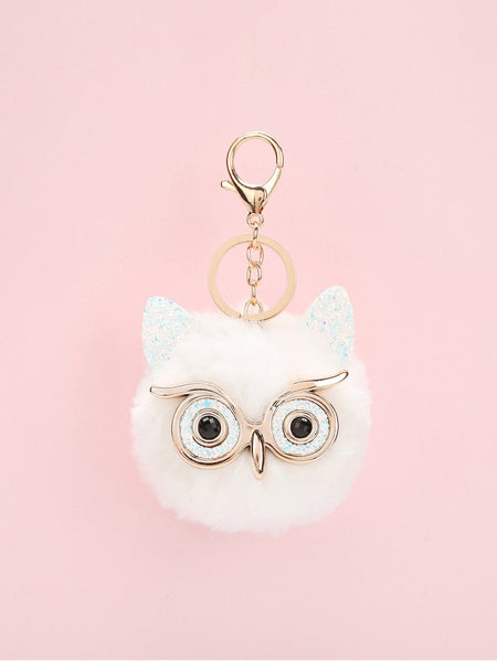 Owl Design Pom Pom Bag Accessory