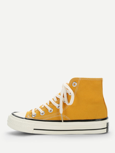 Lace-up High Top Canvas Sneakers