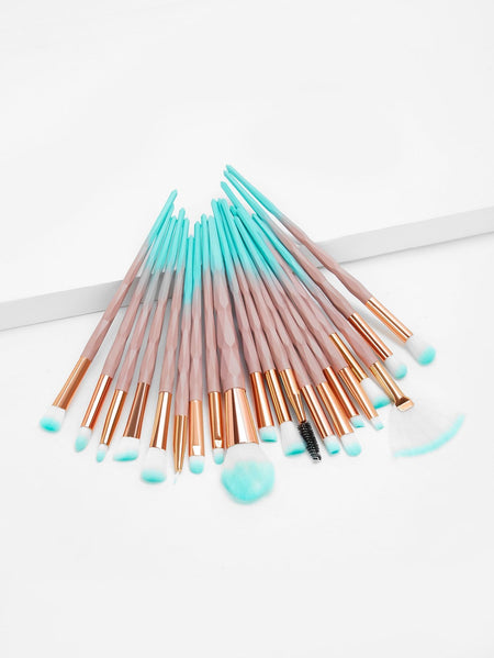 Ombre Handle Makeup Brush 20pcs