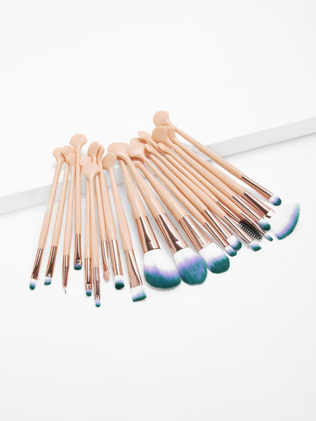 Shell Head Handle Makeup Brush 20pcs