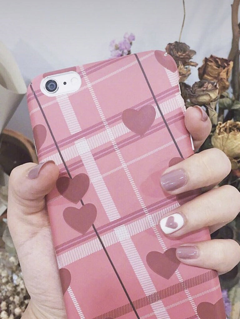 Heart Pattern Fake Nails 24pcs