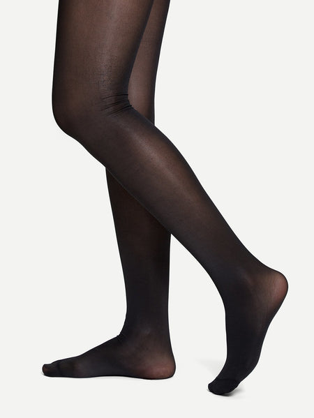 80D Sheer Plain Tights