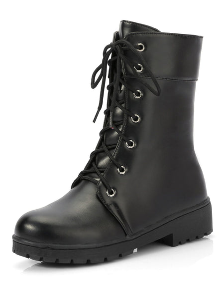 Lace Up High Top Boots