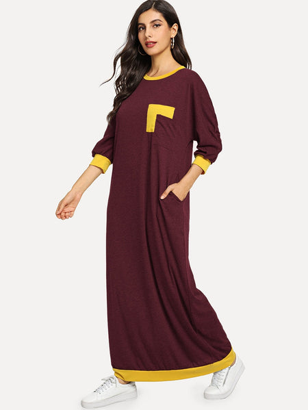 Bishop Sleeve Longline Tee Dress