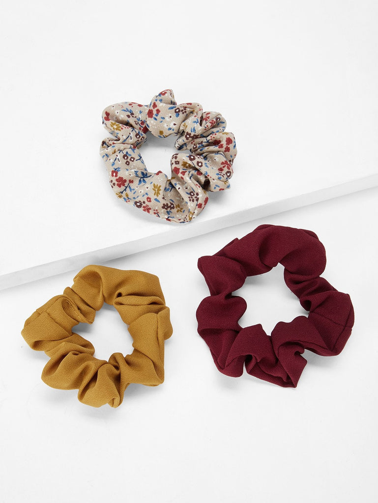 Flower Pattern Hair Tie 3pack