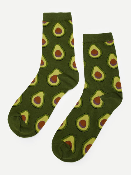 Fruit Pattern Socks 1pair