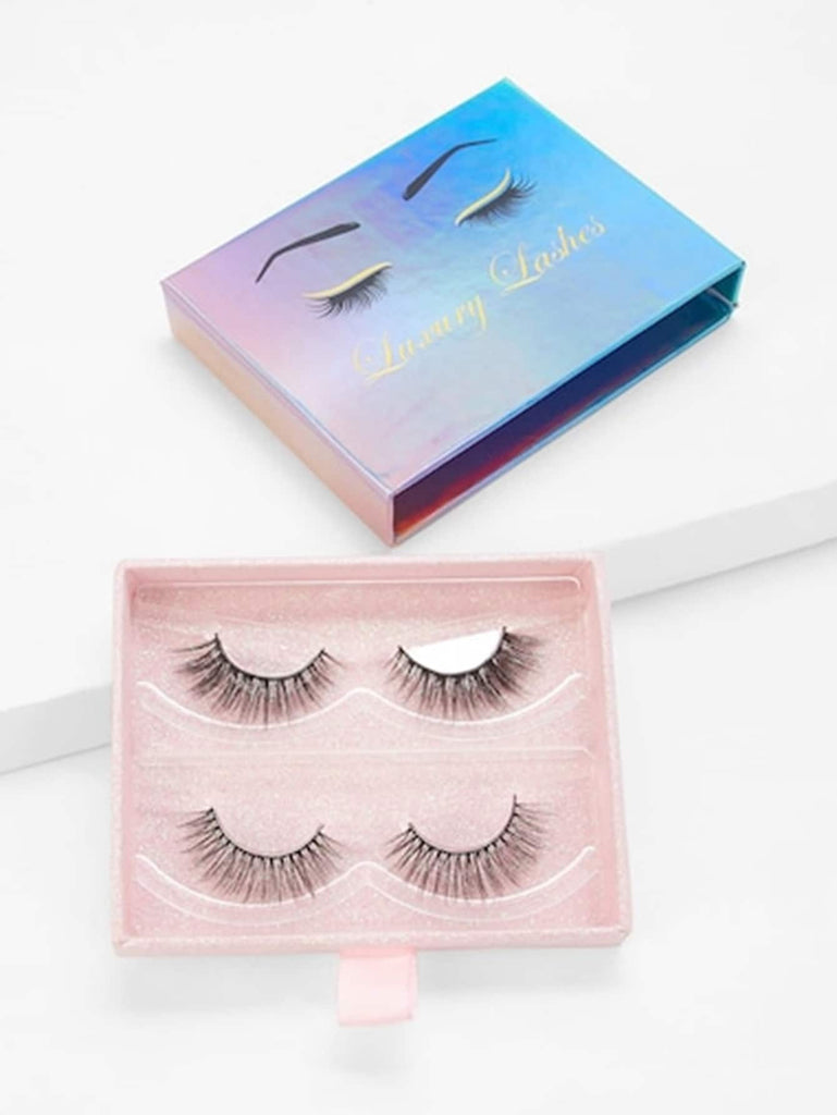 Natural Thick False Eyelashes 2pairs