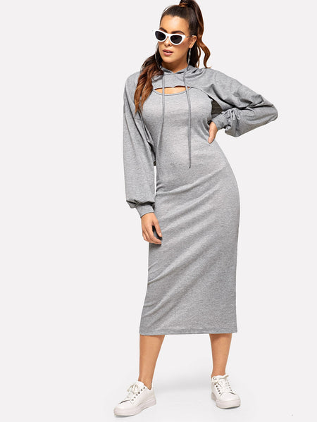 Super Crop Hoodie & Midi Tank Dress
