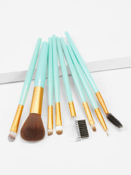 Two Tone Handle Makeup Brush 8pack