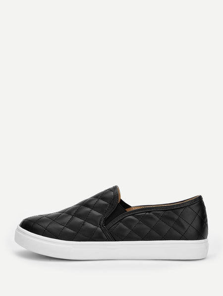 Quilted Design Slip On Sneakers