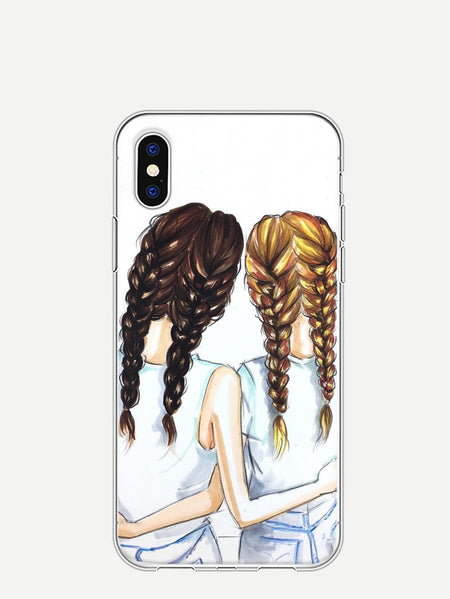 Girl Print iPhone Case