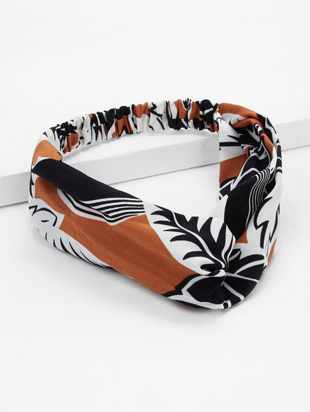 Leaf Pattern Twist Headband