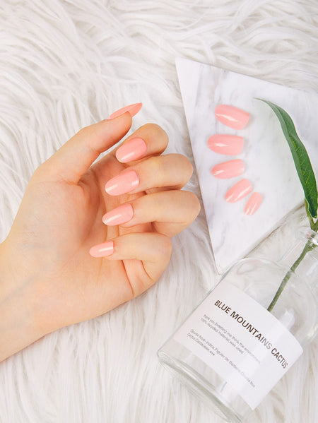 Shimmer Fake Nails 24pcs
