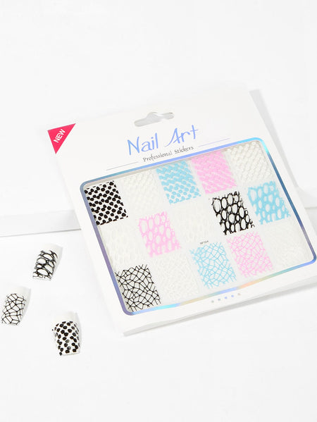 3D Hollow Out Nail Sticker One Sheet