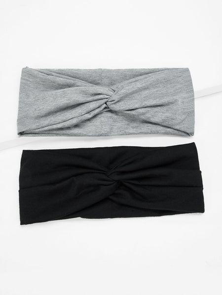 Plain Twist Headband 2pack