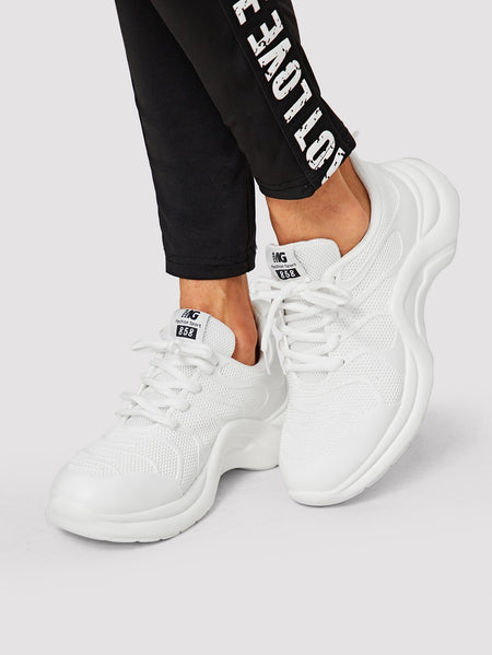 Mesh Panel Chunky Sole Sneakers