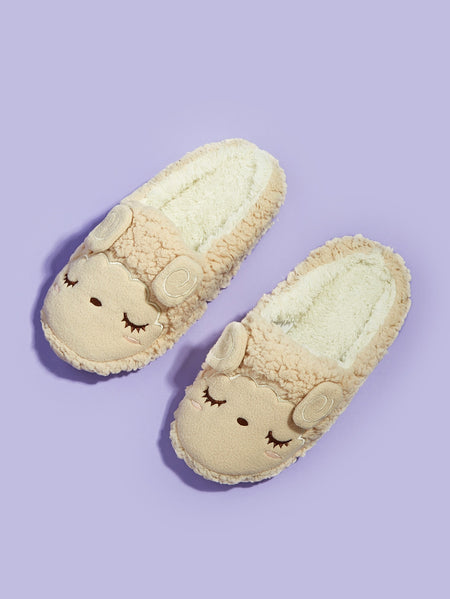 Cartoon Design Fluffy Slippers