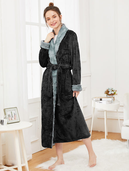 Self Belted Plush Robe