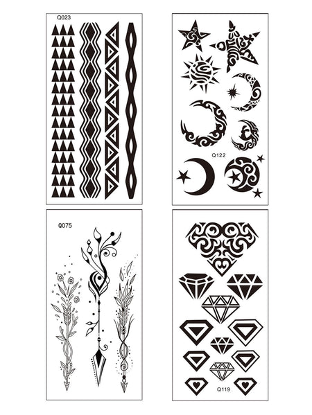Geometric Tattoo Sticker 4sheets