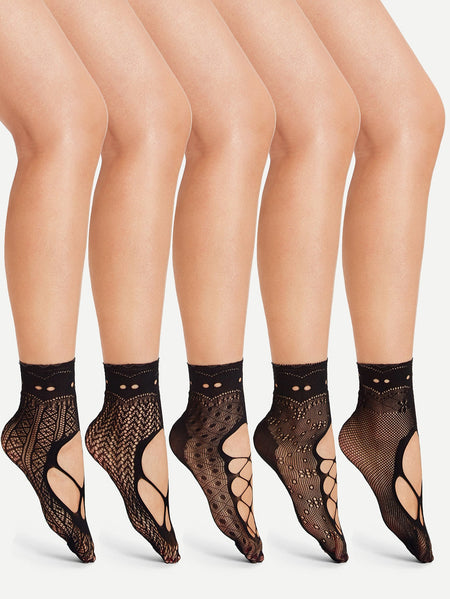 Hollow Out Net Socks 5pairs