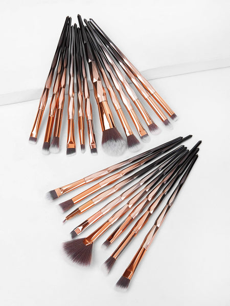 Ombre Handle Makeup Brush 20pack