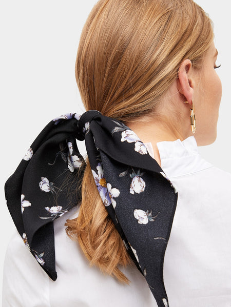 Flower Print Scarf Scrunchies