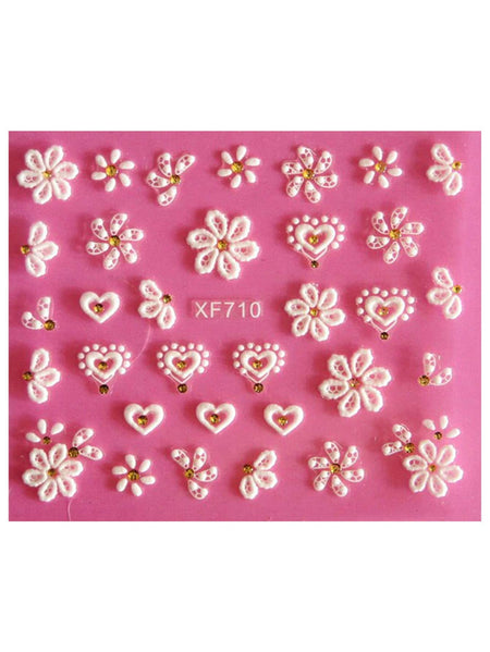 3D Floral Nail Sticker 1 Sheet