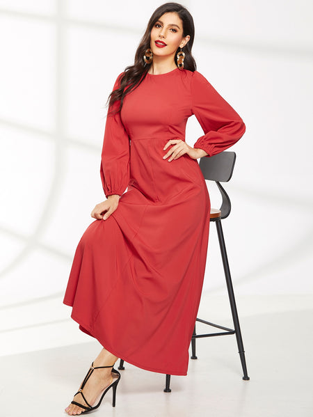 Bishop Sleeve Maxi Dress