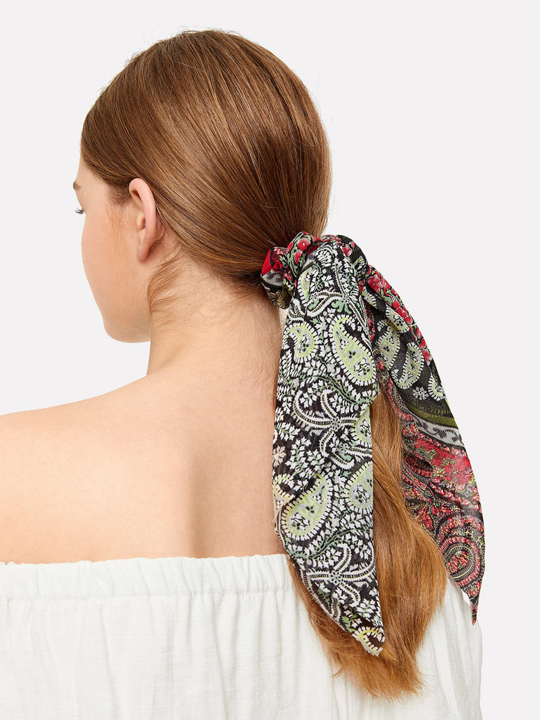 Paisley Scarf Scrunchies