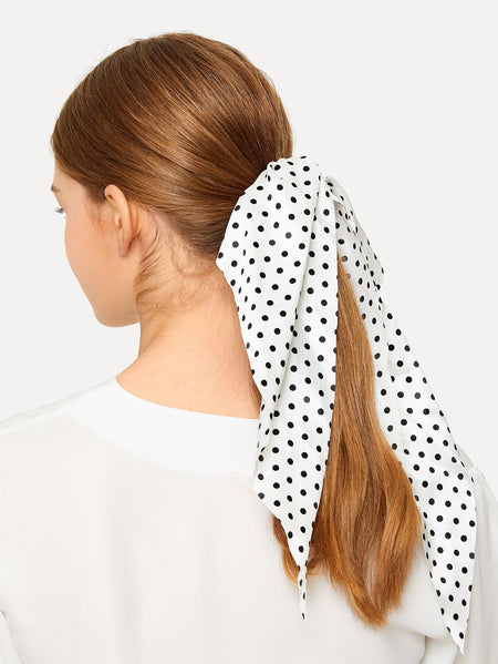 Polka Dot Pattern Scarf Scrunchies