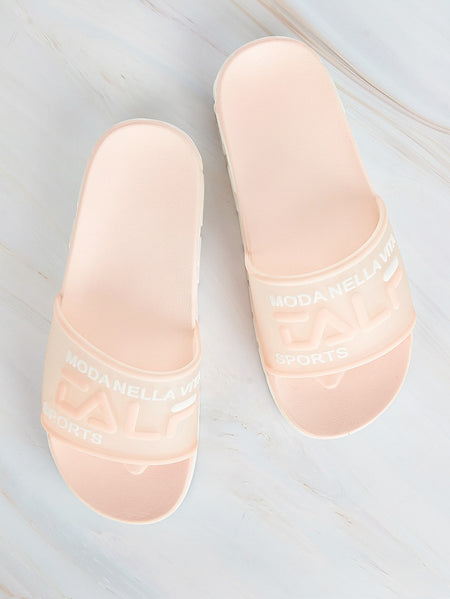 Open Toe Letter Detail Sliders