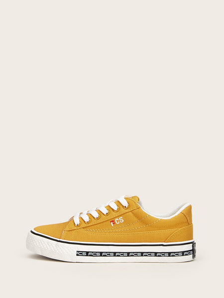 Lace-up Front Canvas Sneakers