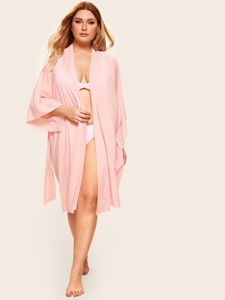 Plus Self Belted Robe