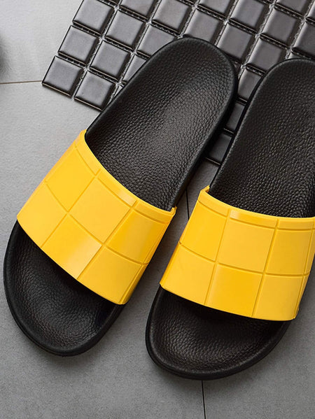 Two Tone Flat Slippers