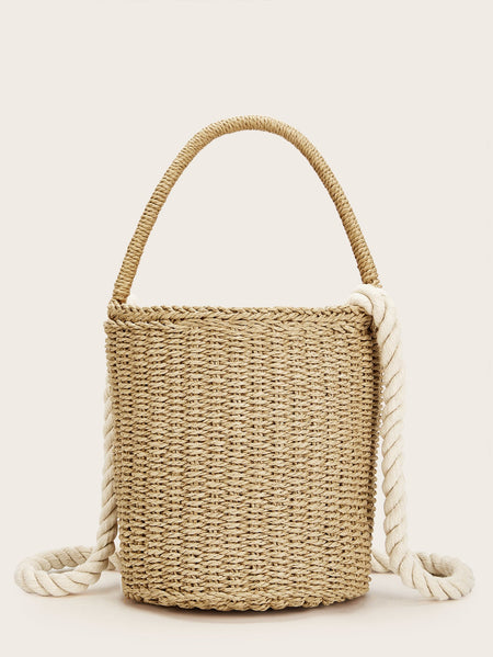 Braided Detail Bucket Bag
