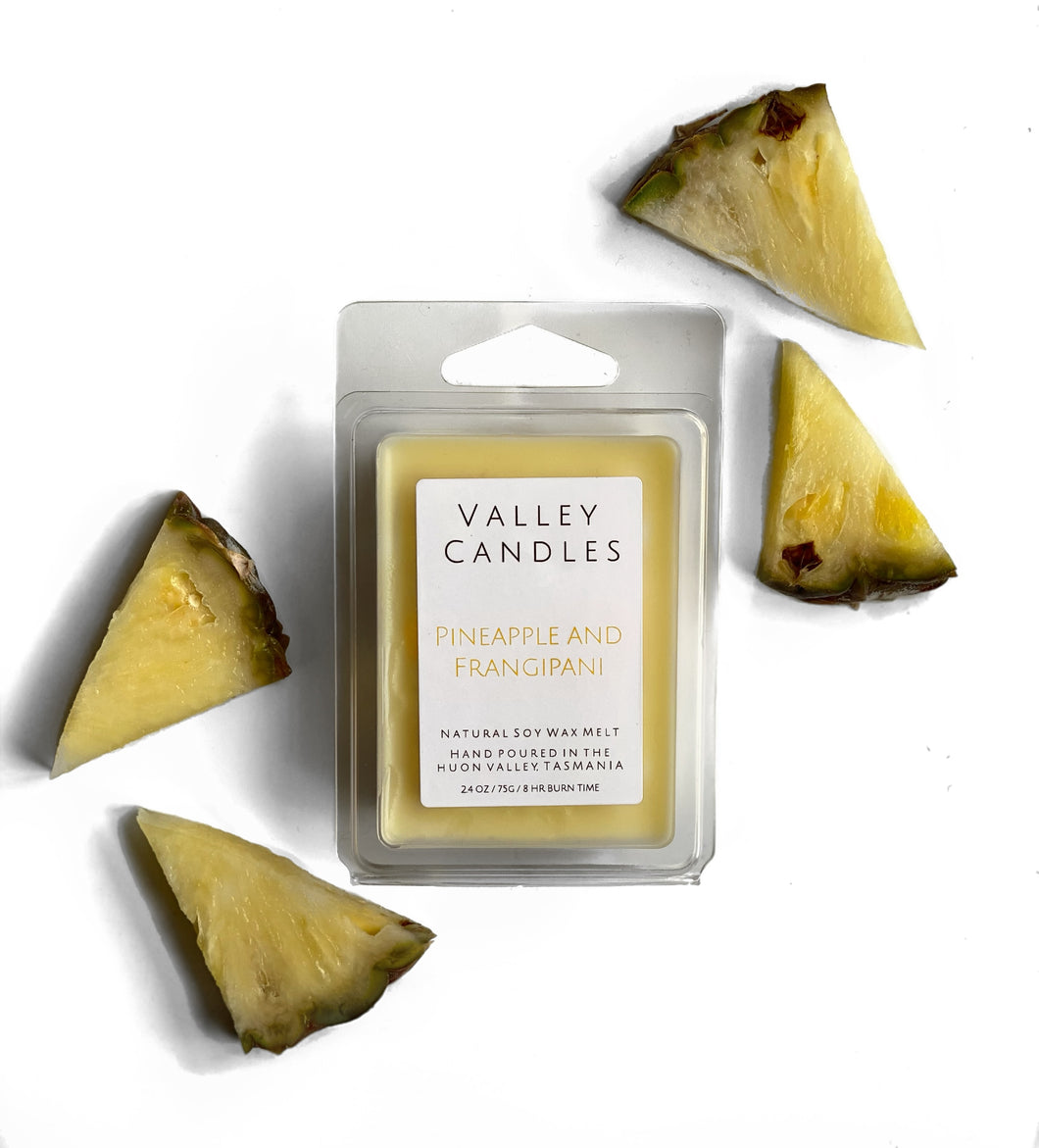 Pineapple & Frangipani Soy Melt - Valley Candles