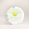 round cucumber goat milk soap on natural background