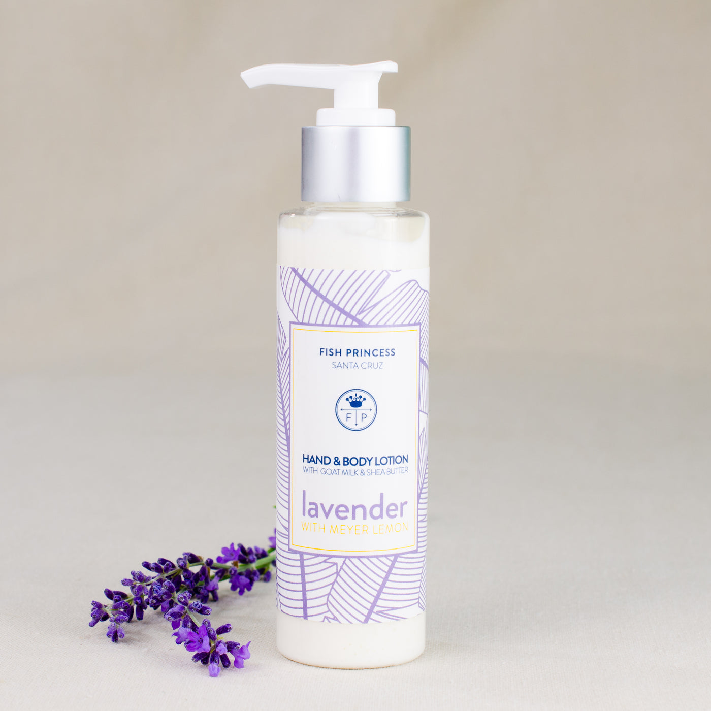 Goat milk lotion with real lavender 4 oz pump