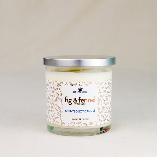 fig and fennel hand-poured soy candle