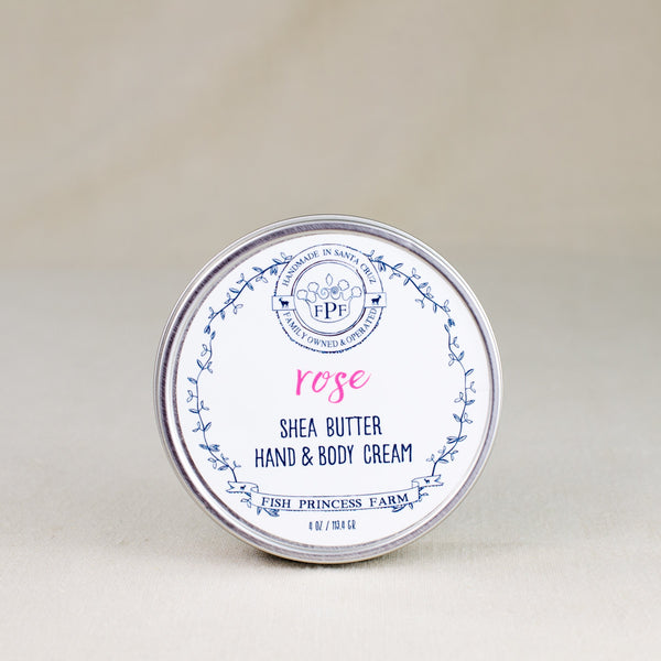 rose shea butter hand and body cream
