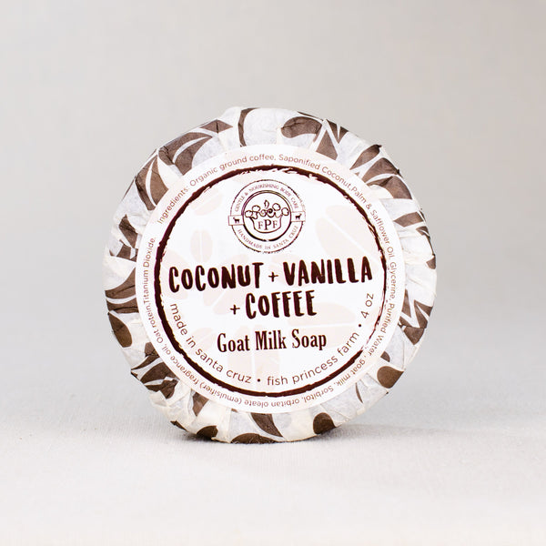 Coconut vanilla coffee goat milk soap