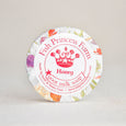 round honey goat milk soap on natural background