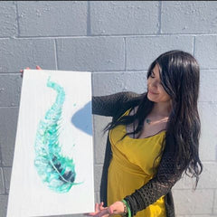 Alisa from Everwest Art with painting