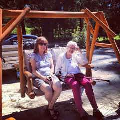Grandma and Aunt BJ on a swing
