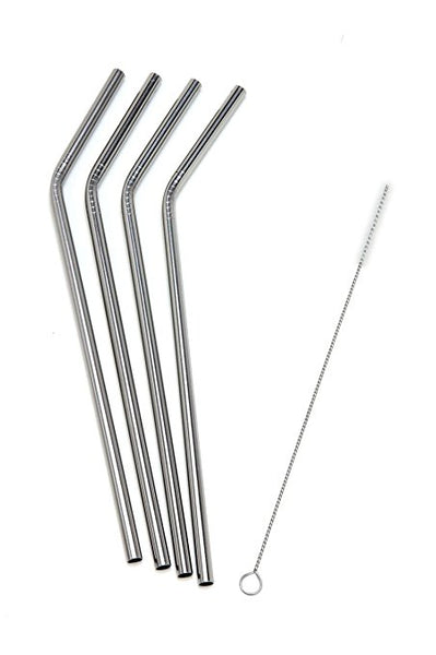 Stainless Steel Staws (Curved)