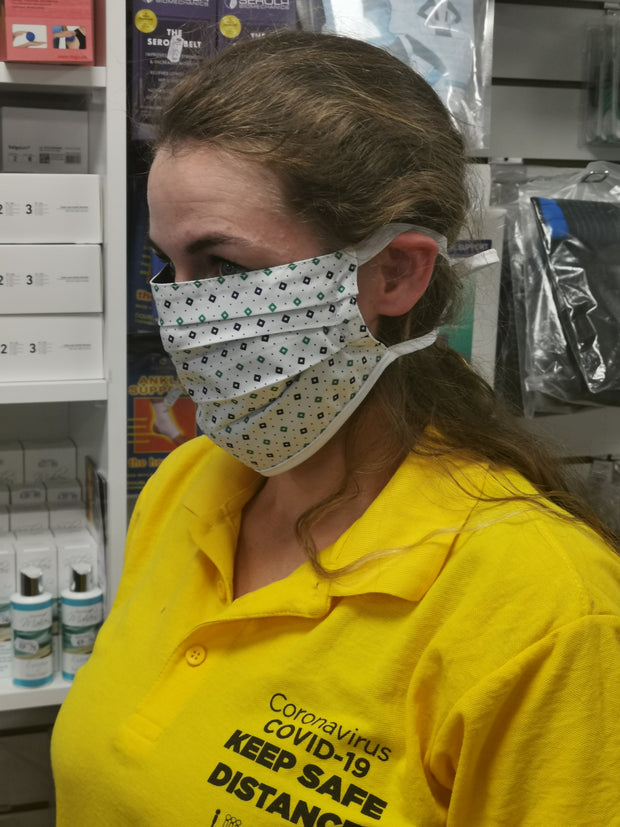 Reusable Face Mask with Ties | Ladies and Gents | MobilityGenie | PPE