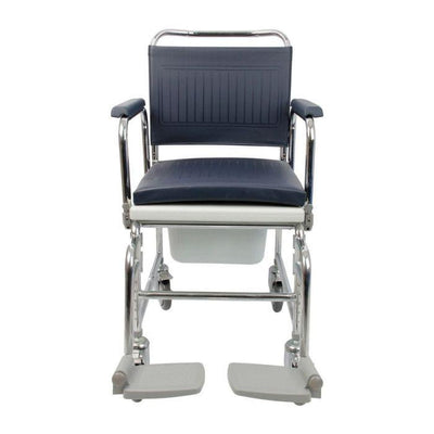 Chrome Plated Adjustable Height Commode Chair